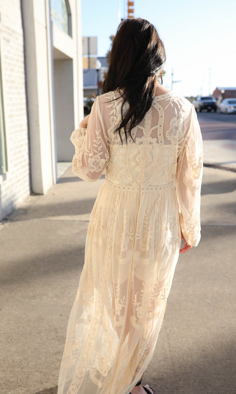 Wherever You Are Lace Maxi Dress