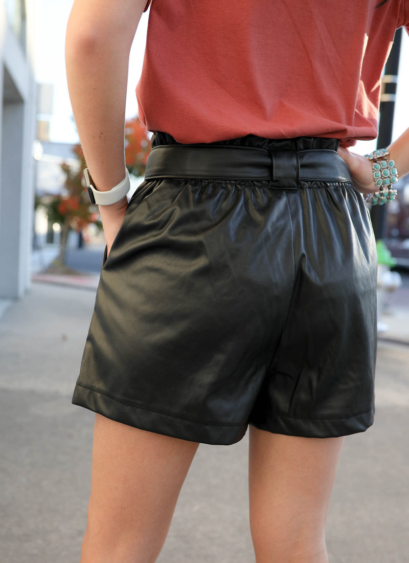 Heart Breaker Leather Shorts