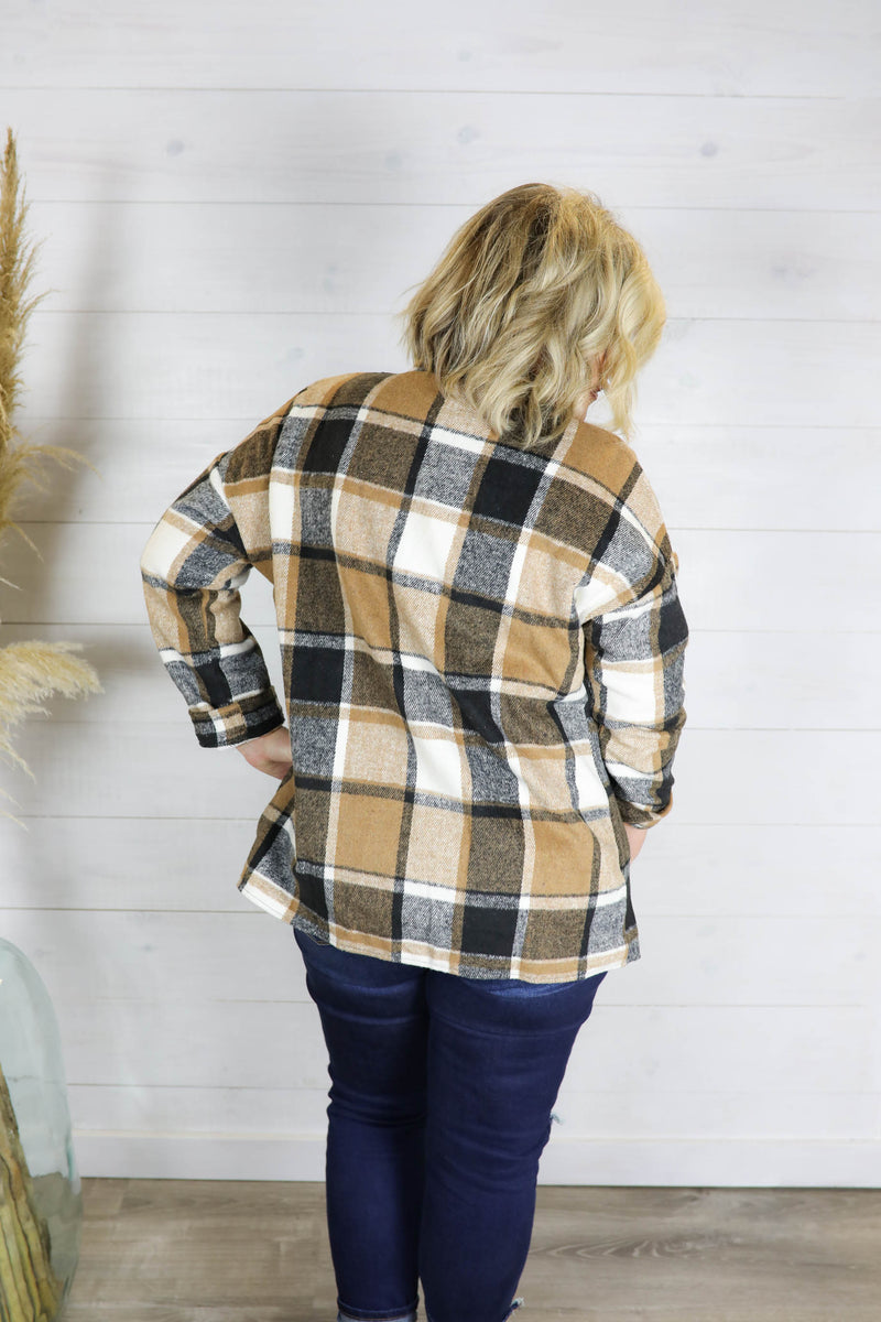 Plaid About You Shirt Jacket