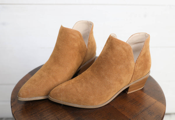 Don't Just Dream Suede Bootie