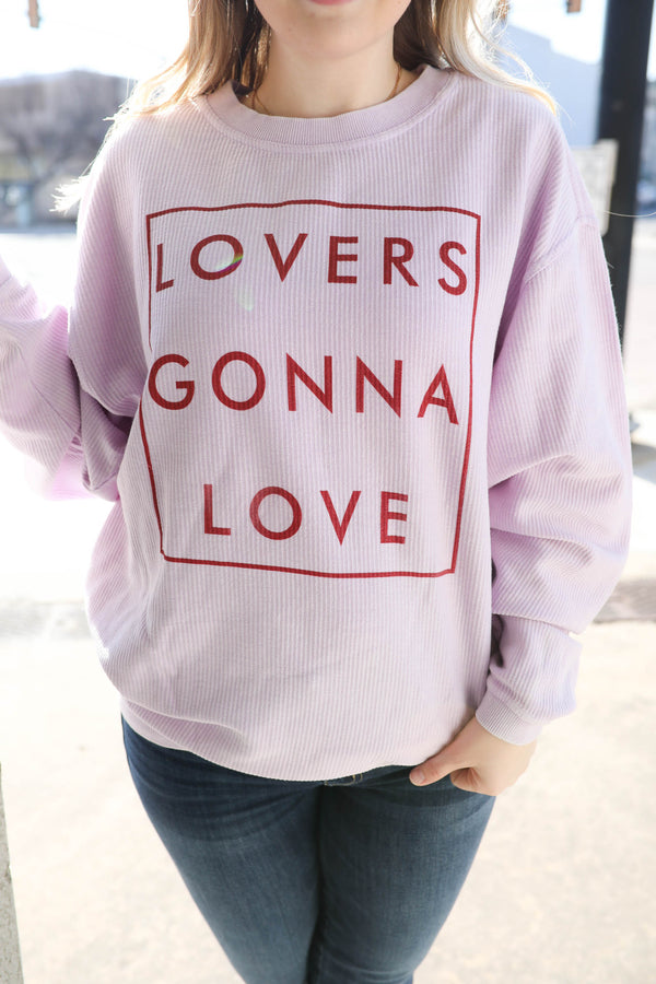 TLB Lovers Gonna Love Corded Pullover