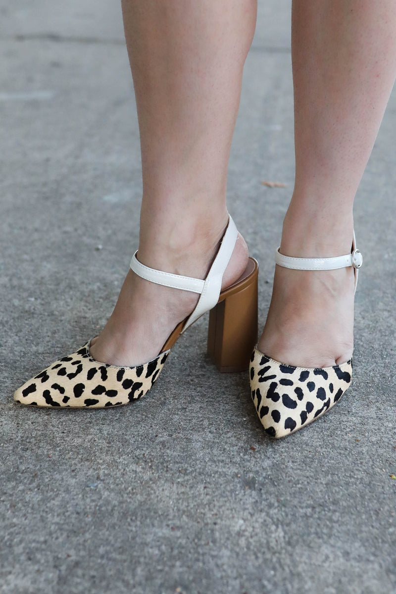 Chinese Laundry Keesa Pony Heels,Shoes - Heel, Cheetah block heel,