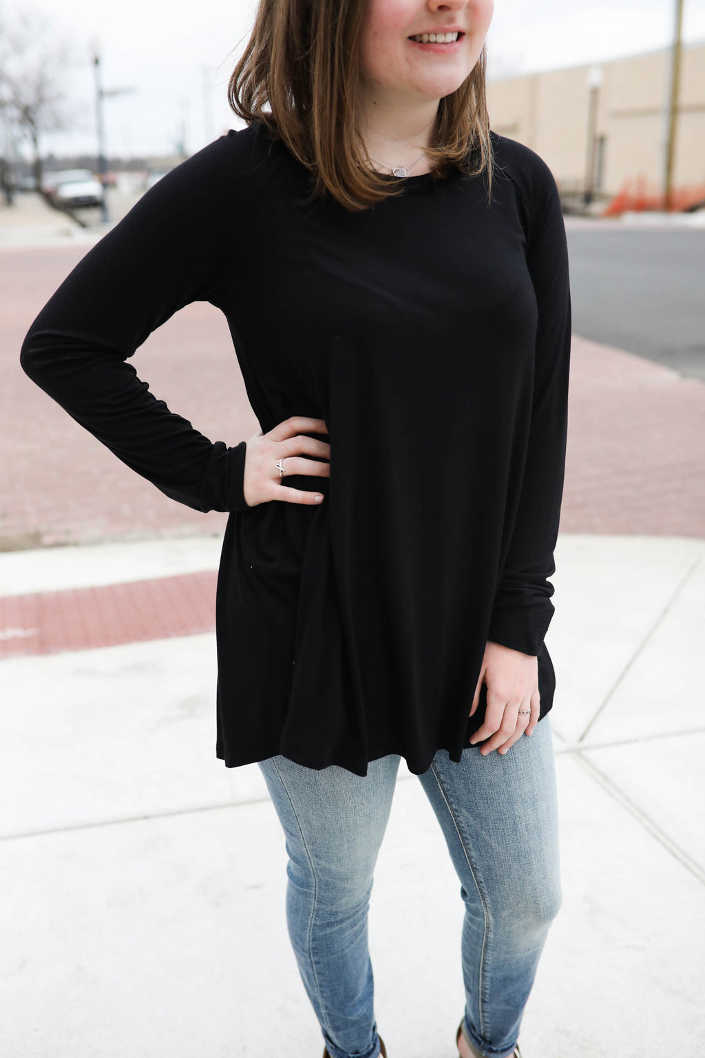 Perfect Opportunity Bamboo LS Knit Top,Tops - Long Sleeve