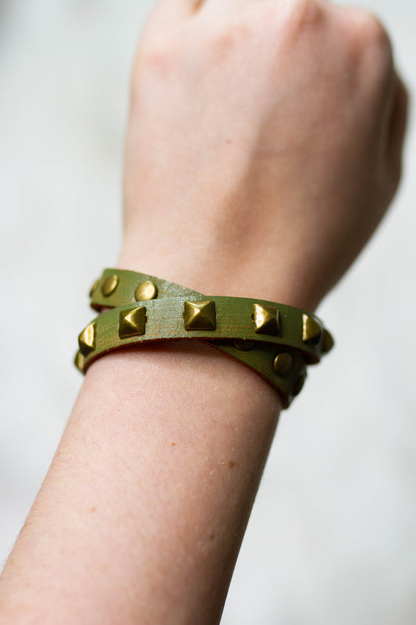 Outlaw Wrap Studded Bracelet,Accessories - Jewelry