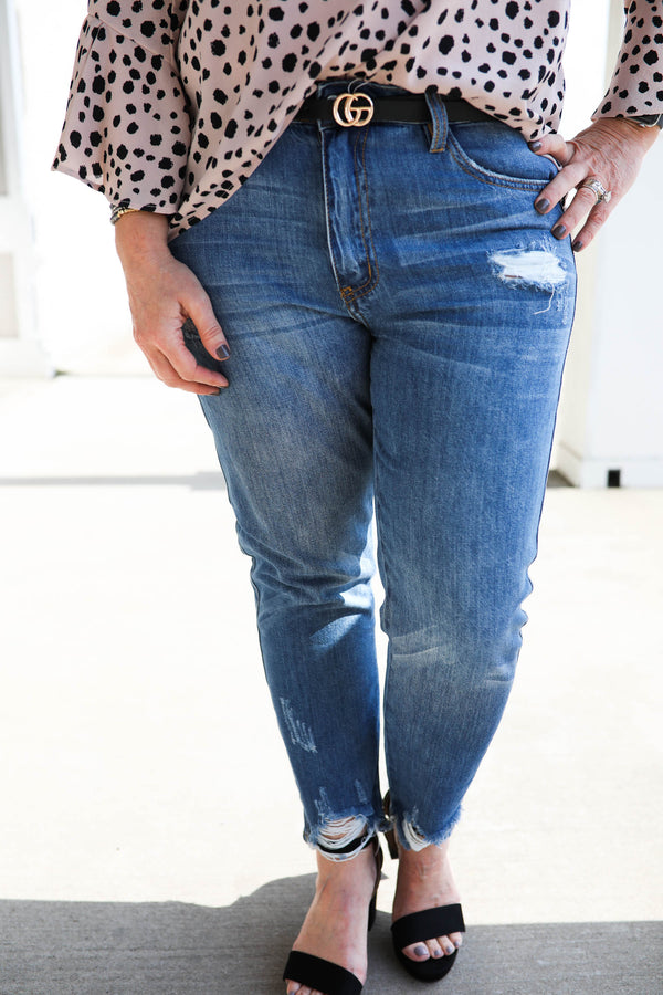 KanCan High Rise Mom Jeans