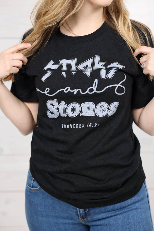 Sticks and Stones Graphic Tee
