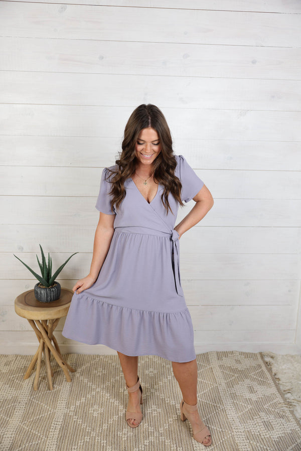 Adore You Side Tie Ruffle Dress