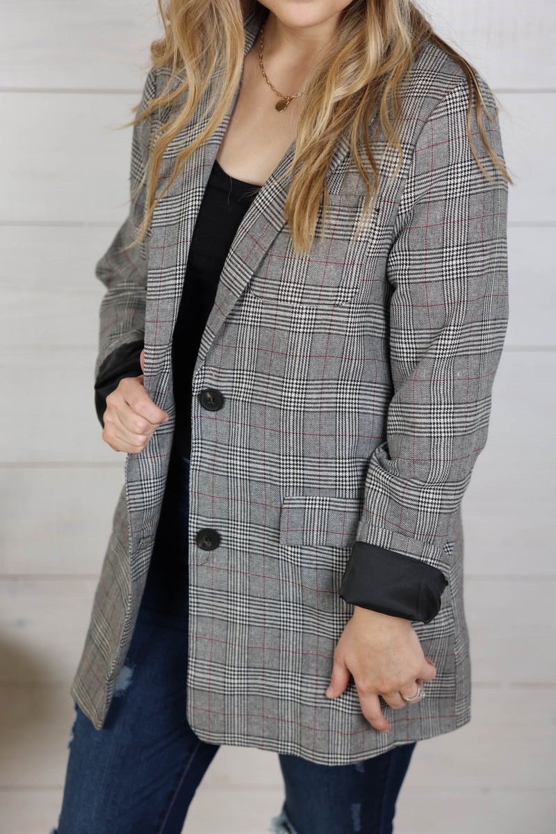 Be Inspired Plaid Blazer