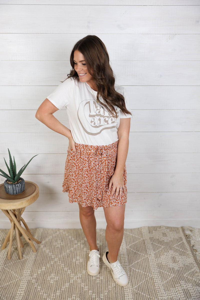 Easy Breezy Floral Skirt