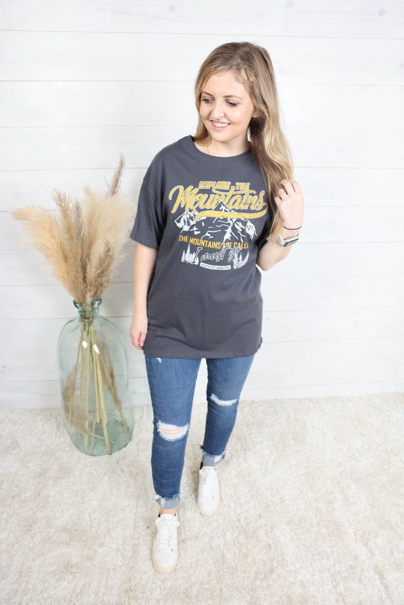 The Mountains Are Calling Graphic Tee