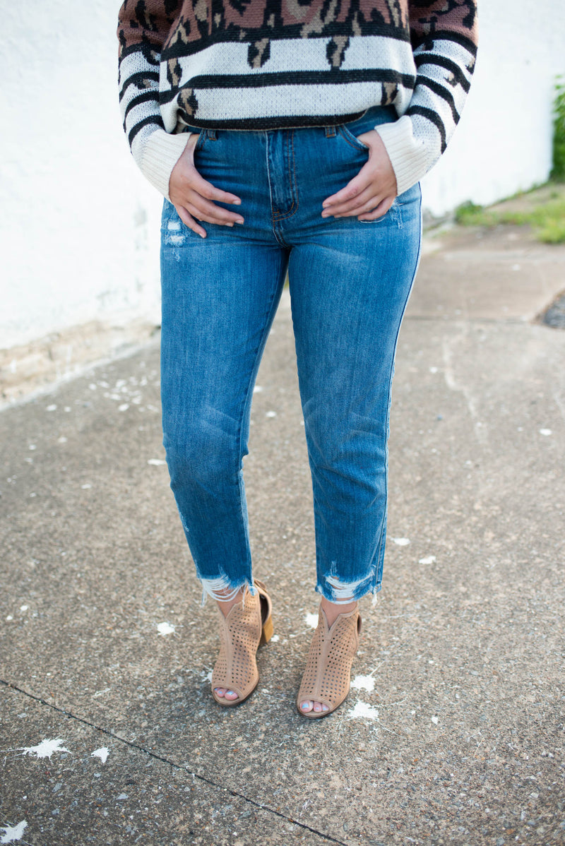 KanCan High Rise Mom Jeans,Bottoms - Denim Jeans