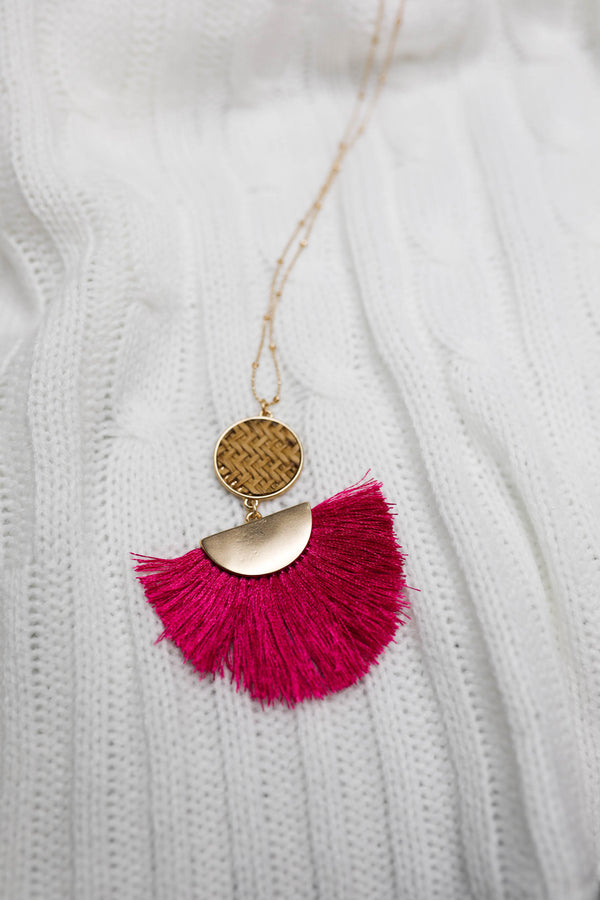 Dream Weaver Tassel Necklace,