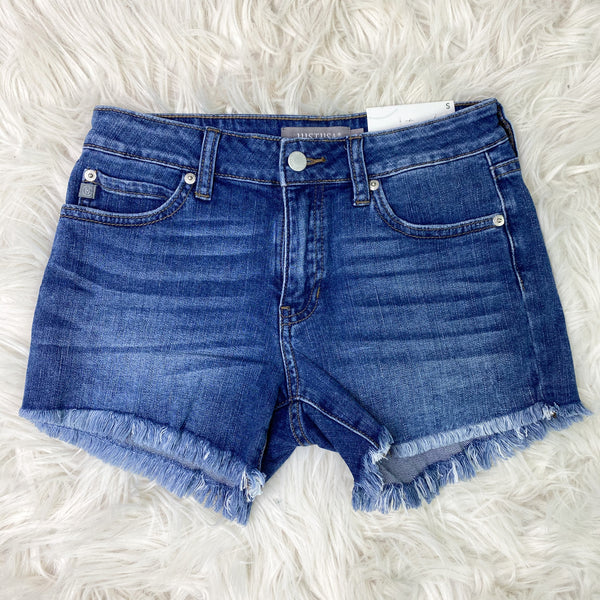 Down At The River Denim Fray Shorts