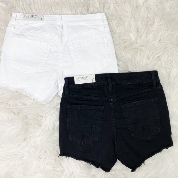 Key West Distressed Denim Shorts