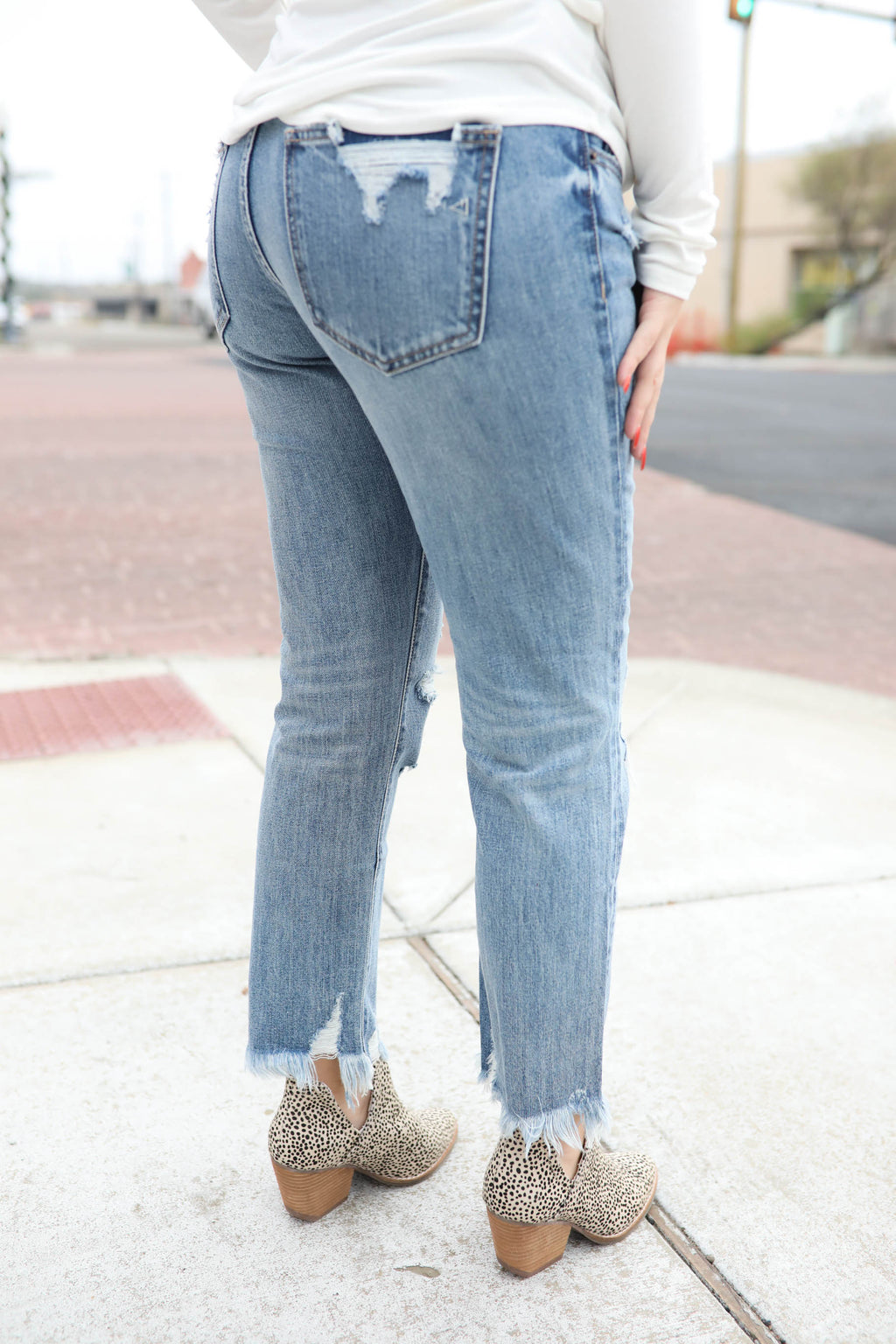 Hidden Bailey Slim Boyfriend Jeans,Bottoms - Denim Jeans