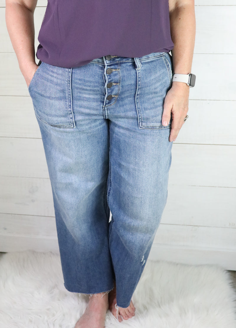 Hidden Nori Utility Wide Leg Crop Jean