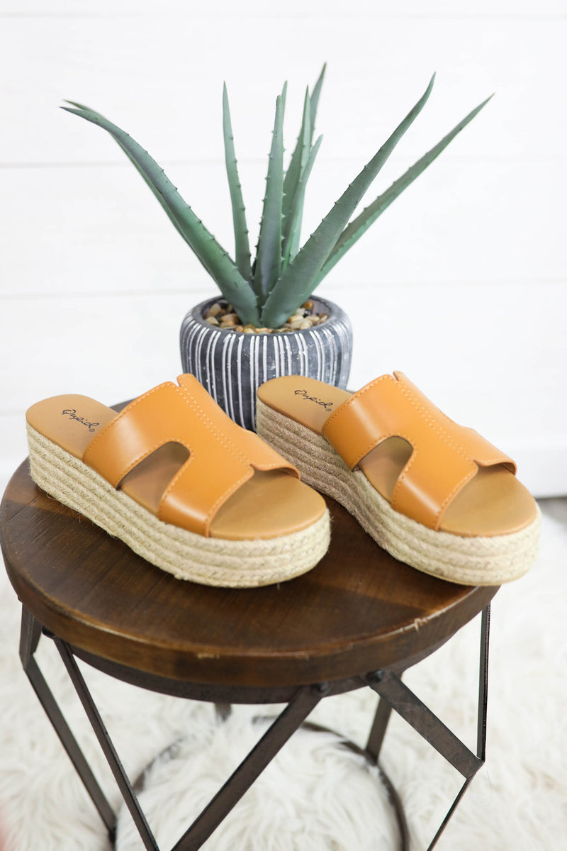 Life's a Beach Platform Slide,Shoes - Sandal