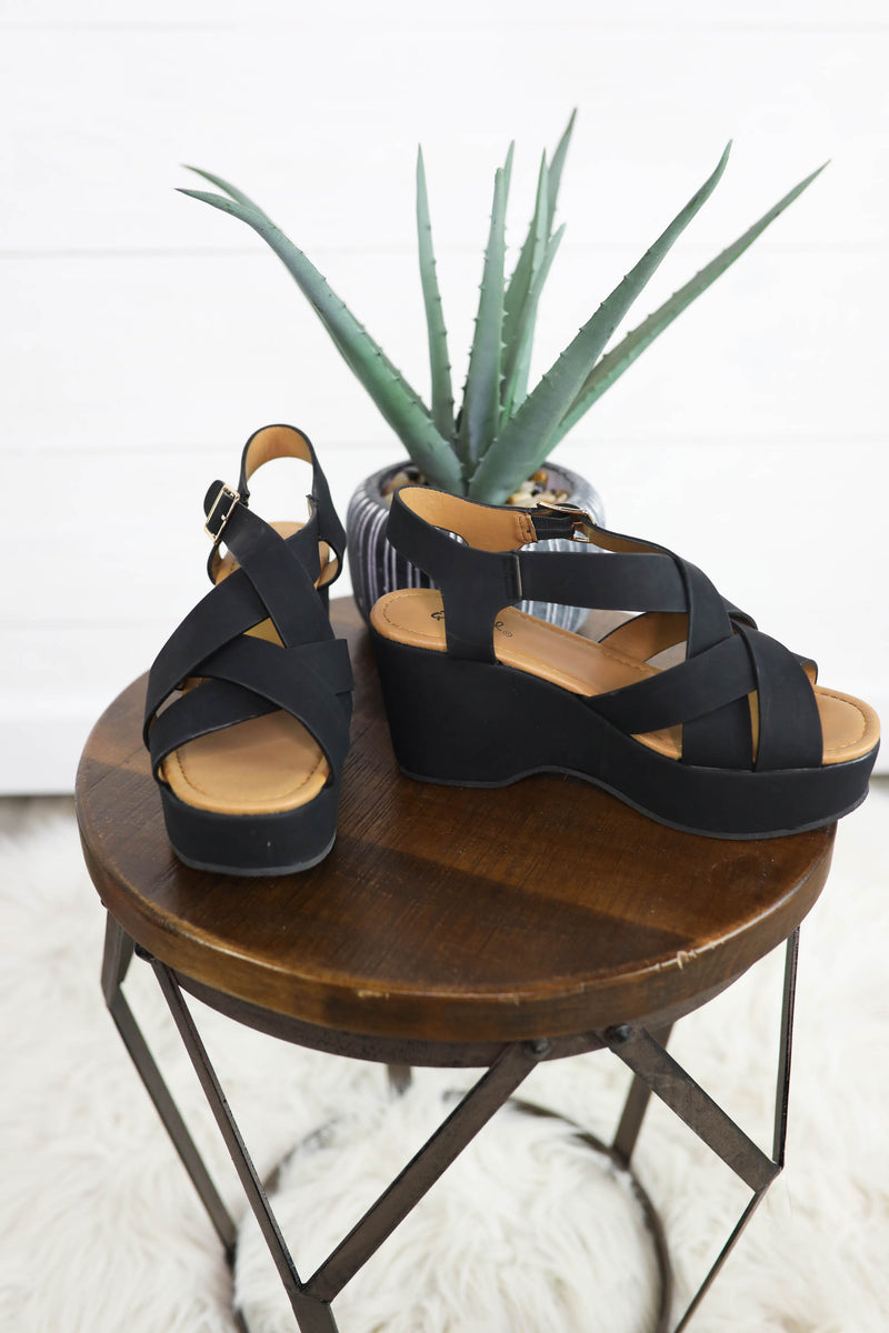 Take Me Out Strappy Wedge Sandal