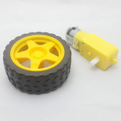 Plastic gearbox with wheel