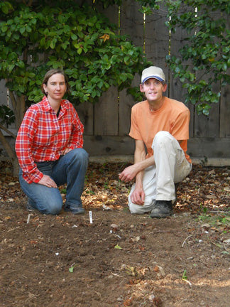 Carla and Kyle after planting garlic