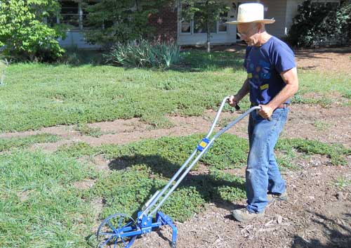 Removing Lawn with a Wheel Hoe