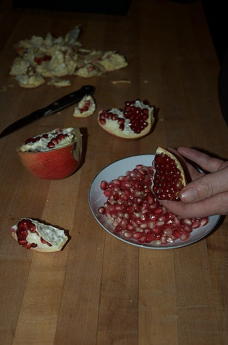 Opening a Pomegranate step 3