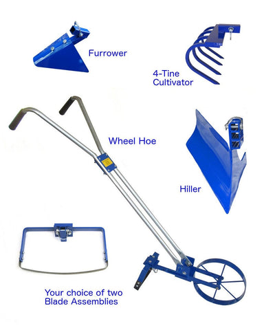 Complete Valley Oak Wheel Hoe Package with Hiller