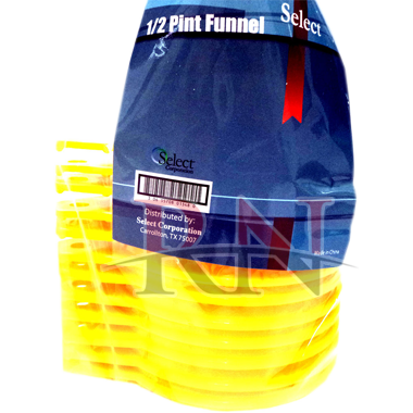 1/2 Pint Yellow Plastic Funnel Wholesale