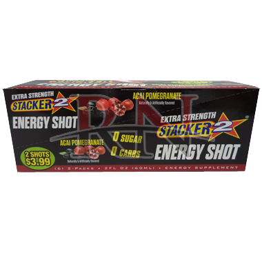 Wholesale Stacker 2 Energy Shot Acai Pomegranate Bulk