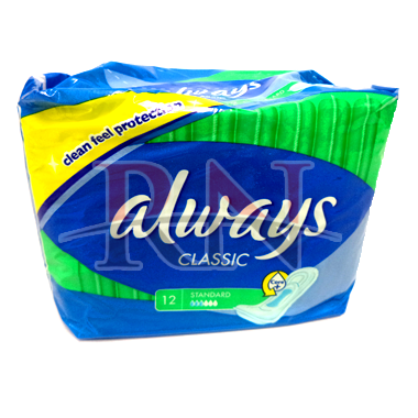 Always Classic Standard Pads 12CT Wholesale