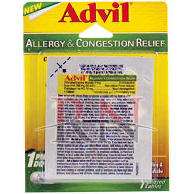 Advil Allergy & Congestion Relief Blister Pack Wholesale