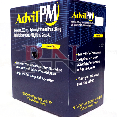Wholesale Advil PM Dispenser 50PK