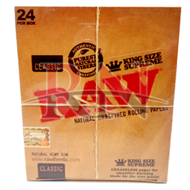 Raw King Size Supreme Rolling Papers Wholesale