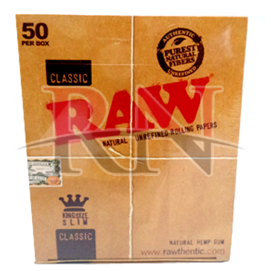 Raw Classic Rolling Paper Kingsize Slim 50PC Wholesale