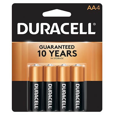 Duracell Coppertop AA4 Batteries Wholesale