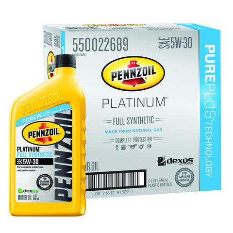 PENNZOIL | PLATINUM SAE SYNTHETIC MOTOR OIL QUART - 6PC/CS