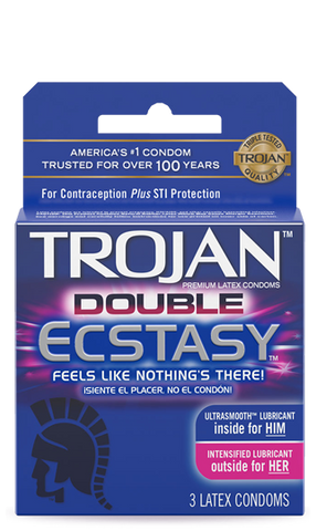 TROJAN | DOUBLE ECSTASY CONDOMS 3CT - 6PC