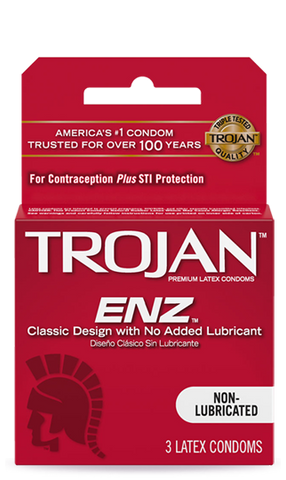 TROJAN | ENZ NON-LUBRICATED CONDOMS 3CT - 6PC