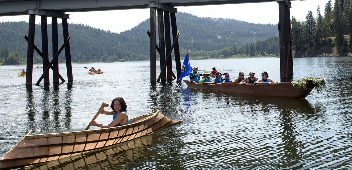 Coeur d'Alene Tribe Members Begin 100-Plus Mile Journey in Dugout Canoe