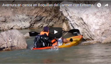 Canoeing adventure in Boquillas del Carmen with Extrematour Adventure Travel