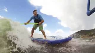 Wake Surfing with a SUP