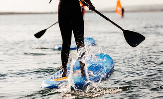 Physics for Efficient Paddleboarding