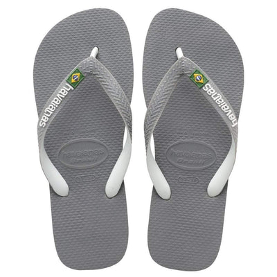 Havaianas Apparel Women's 6 / Grey/White Brazil Mix Sandal Steel Grey/White