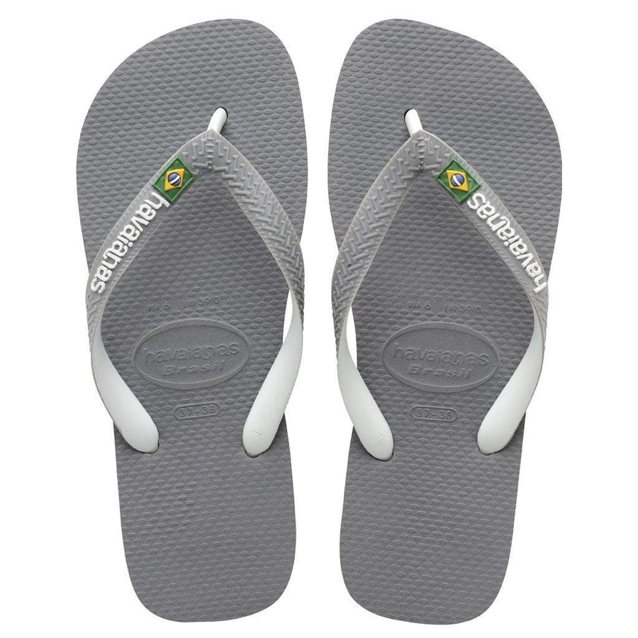 1762c16cec3e49 Havaianas Apparel Women s 6   Grey White Brazil Mix Sandal Steel Grey White