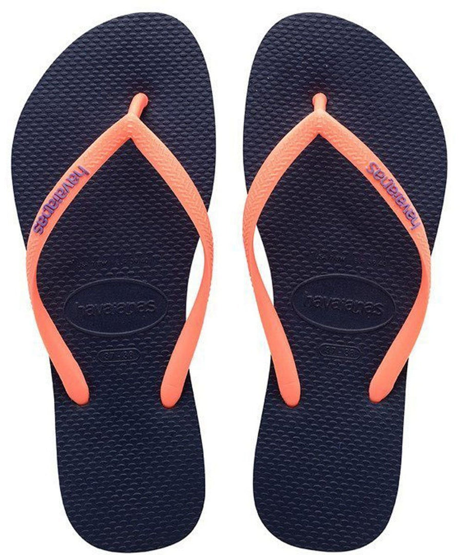 31c78b6894eef7 Havaianas Apparel Women s 6   Navy Blue Slim Popup Sandal Navy Blue