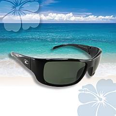 Hawaiian Lenses Kona II Polarized Black Bifocal Reader Sunglasses