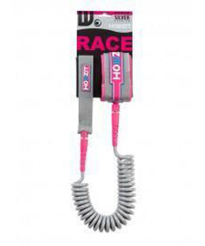 Howzit Accessories Silver/Pink 9' Coiled Ankle Leash