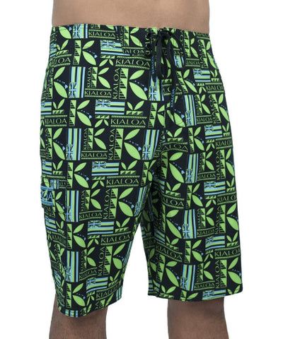 Kialoa Apparel 29 / Black Men's Aina Boardshort