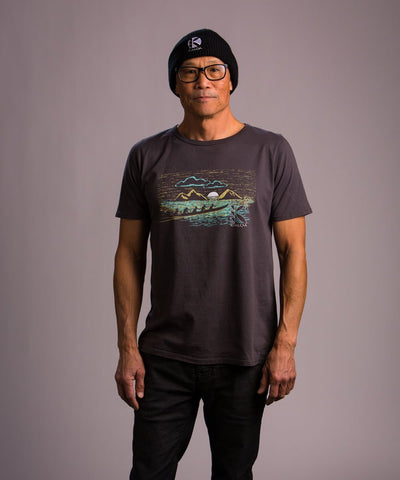 Kialoa Apparel Asphalt / Small Men's Mokulua Tee