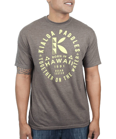 Kialoa Apparel Brown Heather / Medium Men's Hanau Tee
